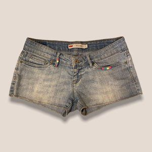 Vintage Y2K Levi's Embroidered Shorty Jean Shorts